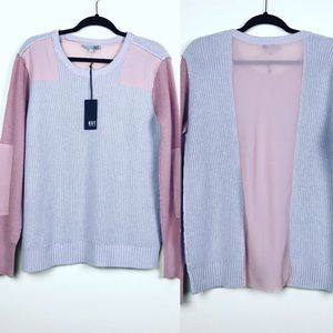 KUT from the Kloth Pink Gray Pullover Sweater L